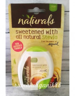 naturals sweetened stevia